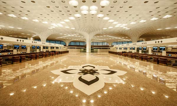 Mumbai's New T2 Airport Terminal GFRG Ceiling Manufactured by Formglas