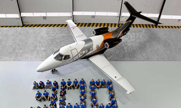 Embraer Executive Jets delivers 300th Phenom 100