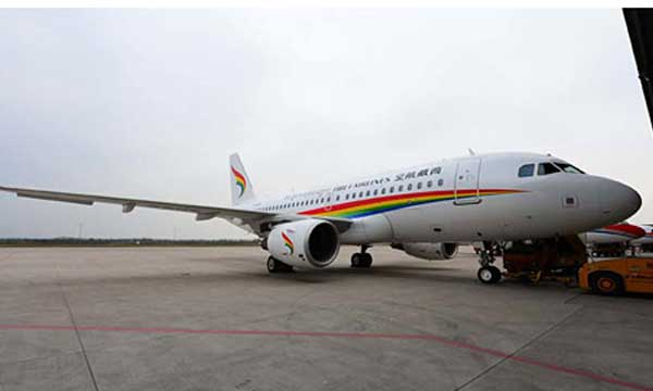 China's Tibet Airlines takes delivery of its first A319 with Sharklets