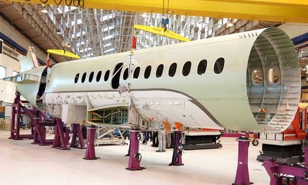 Dassault Joins Central Fuselage of New Falcon 5X