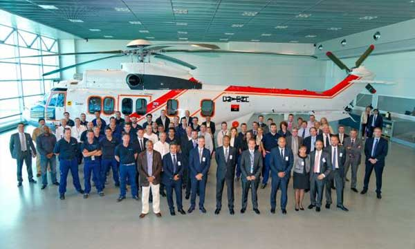 SonAir takes delivery of a new EC225 from Airbus Helicopters for oil and gas missions in Africa