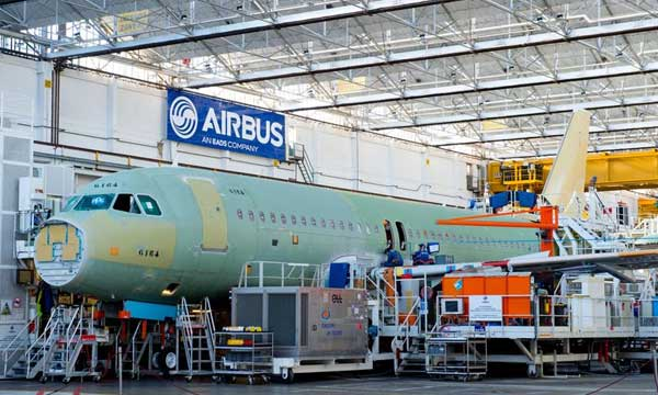 First Airbus for Lion Group in final assembly