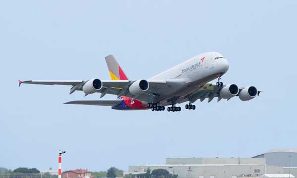 Asiana Airlines takes delivery of its first Airbus A380