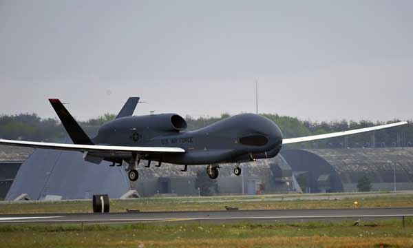 Misawa launches first Global Hawk