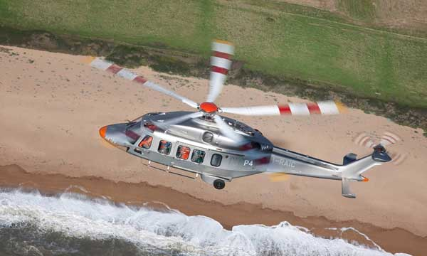 AW189 Helicopter with Liebherr systems on board