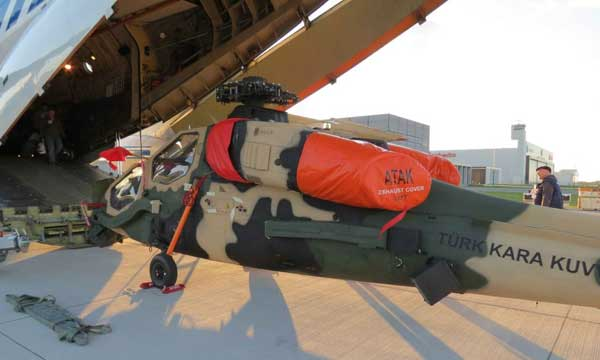 Volga-Dnepr moves Turkey's prototype attack helicopter