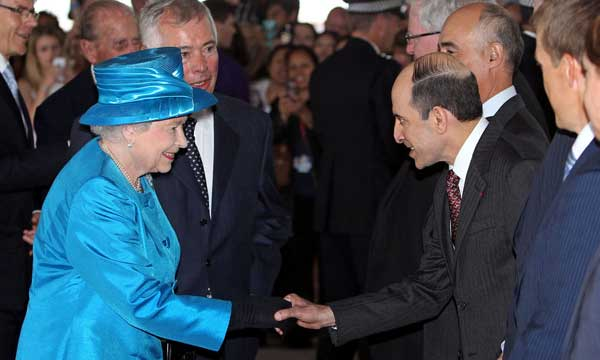 CEO of Qatar airways joins Her Majesty The Queen  at the official opening of the new Terminal 2
