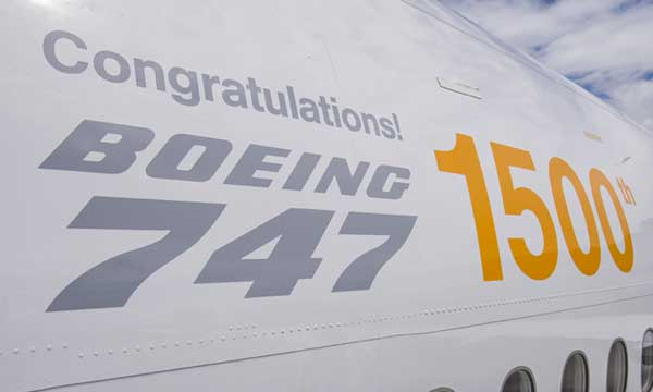 Boeing 747: 1500th delivered