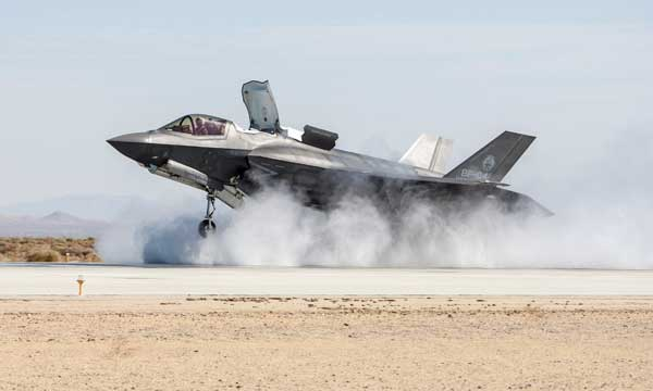 F-35B Successfully Completes Wet Runway And Crosswind Testing