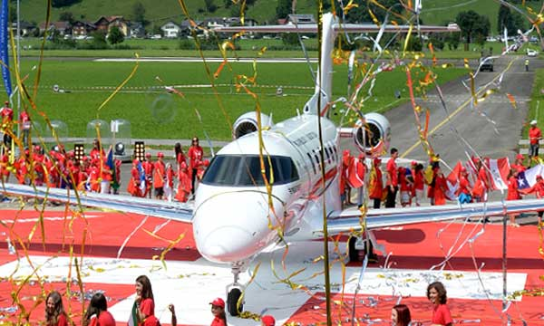 Pilatus unveils the first PC-24 prototype