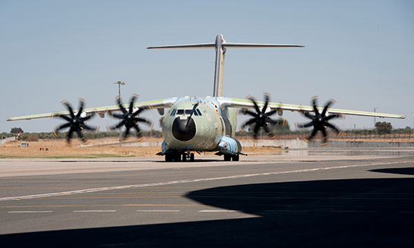 First A400M for the Royal Air Force takes another step (video)