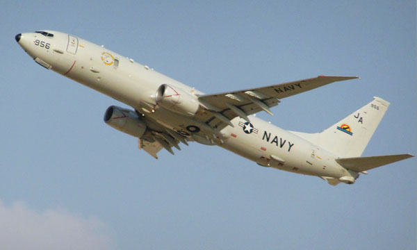 Boeing wins $296 million initial deal for 12 more P-8 spy planes