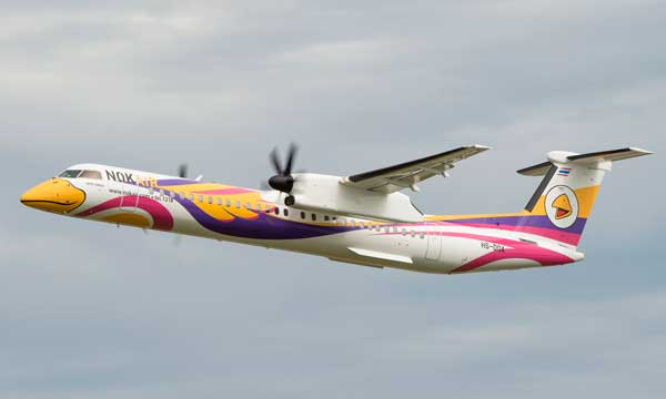 Bombardier Delivers its First 86-Seat Q400 NextGen Aircraft to Bangkok-Based Nok Air