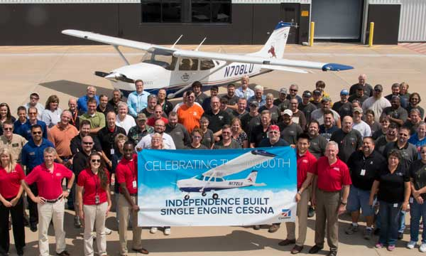 Textron Aviation Independence facility delivers 10,000th single-engine aircraft