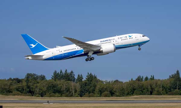 Boeing, Xiamen Airlines Celebrate Airline's First 787 Dreamliner Delivery