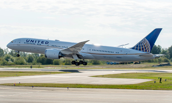 United Airlines Takes Delivery of First 787-9 Aircraft in North America