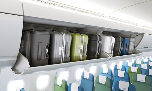Airbus launches new pivoting overhead carry-on stowage bins for A320 Family