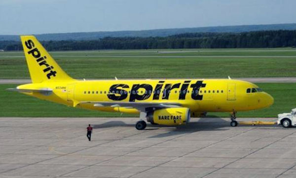 Spirit Airlines unveiled a new paint design