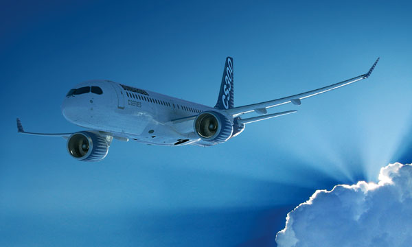 Macquarie orders 40 Bombardier CS300s, 10 in option
