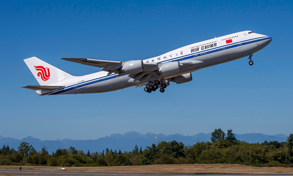 Air China Celebrate Airline's First 747-8 Intercontinental