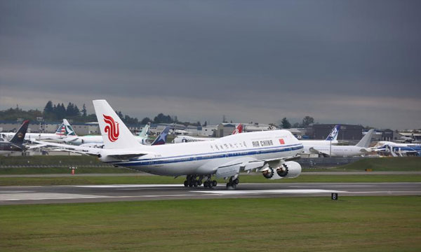 Air China receives their new-generation Boeing Jetliner B747-8