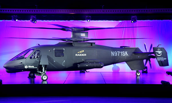 S-97 RAIDER unveiled by Sikorsky