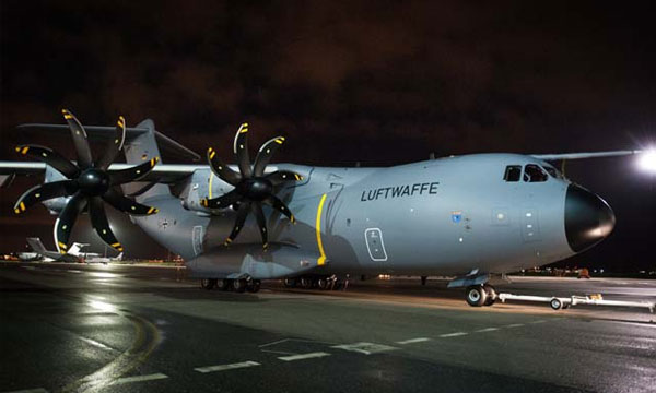 First German A400M get new colours