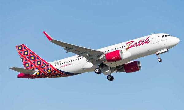 Best-selling A320 joins the fleet of Batik Air