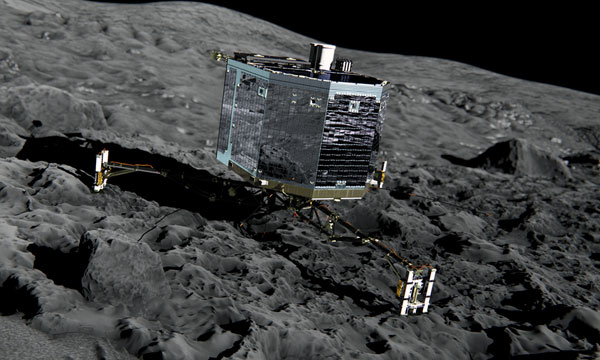 Rosetta's Philae lander touched down on the comet 67P