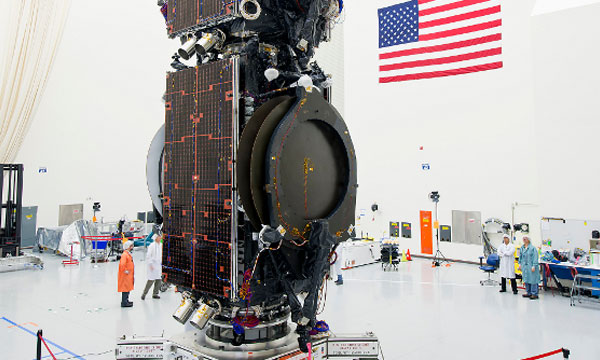 Boeing Stacks Two Satellites to Launch as a Pair