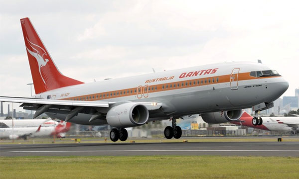 Qantas welcomes home its first « retro » inspired aircraft