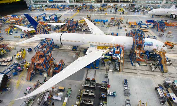 Boeing South Carolina Begins Final Assembly of its First 787-9 Dreamliner