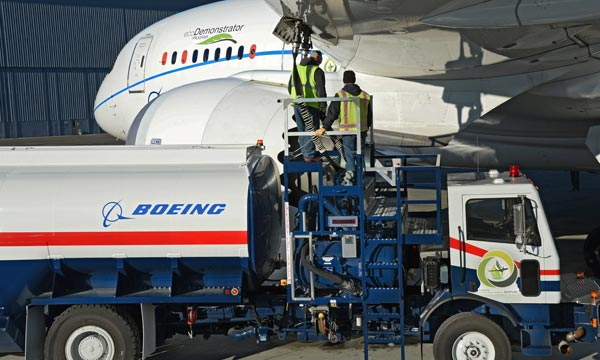 Boeing Conducts World's First Flight with 'Green Diesel' as Aviation Biofuel