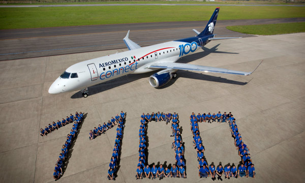Aeromexico receives 1,100th Embraer E-Jet