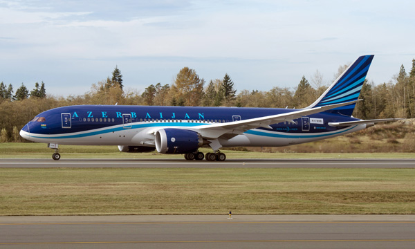 Boeing Delivers Azerbaijan Airlines' First 787 Dreamliner