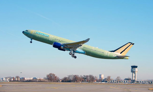 First 242 tonne take-off weight A330 successfully completes first flight