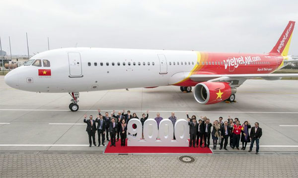 Airbus celebrates delivery of its 9,000th aircraft