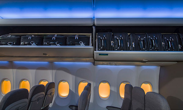 Boeing Showcases Space Bins at Aircraft Interiors Expo