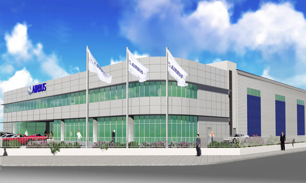 Construction of new Airbus Asia Training Centre underway