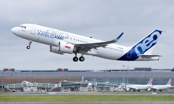 A320neo with LEAP- 1A engines takes to the sky for the first time