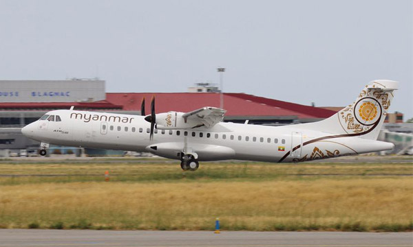 Myanmar National Airlines takes delivery of its first ATR 72-600