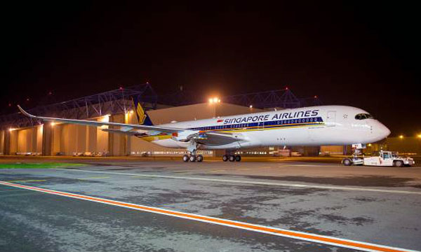 Airbus completes painting of Singapore Airlines' first A350 XWB