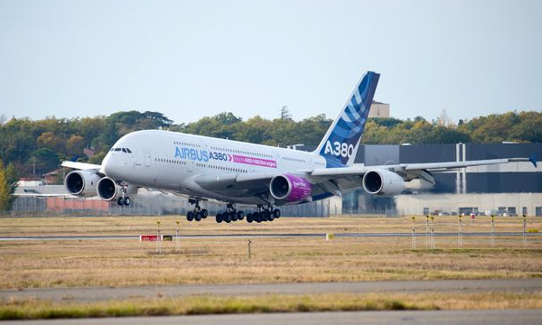 Airbus' A350-1000 Trent XWB-97 engine begins flight-test campaign on A380 flying-test-bed