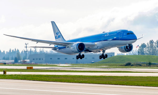 KLM Royal Dutch Airlines celebrate delivery of airline's first 787 Dreamliner