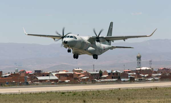 Airbus C295W demonstrates its capabilities in hot and high conditions in La Paz, Bolivia