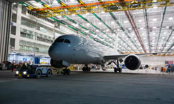Boeing South Carolina's 100th 787 Dreamliner rolls out of the factory