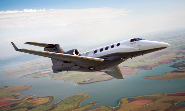 Embraer Phenom 300 is most-delivered business jet in the world for the third consecutive year