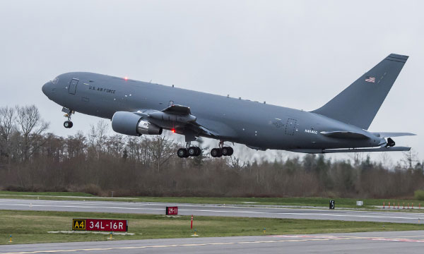 U.S. Air Force KC-46A Tanker completes first flight