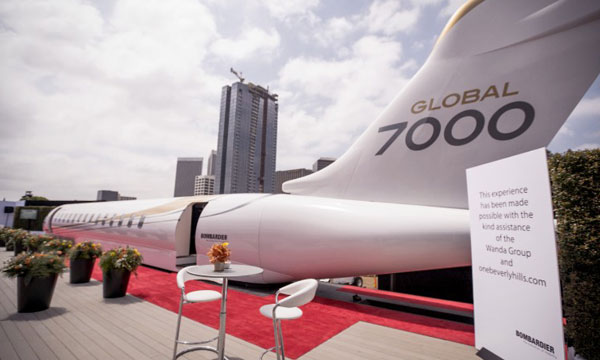 Bombardier : Global 7000 Aircraft Mock-up at the 2016 MIGC