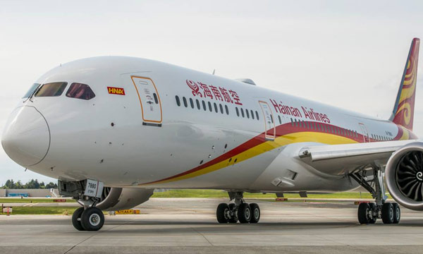 Hainan Airlines celebrate delivery of airlines' first 787-9 Dreamliner